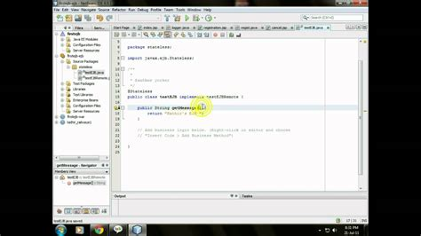 ejb tutorial on netbeans simple ejb application in netbeans youtube