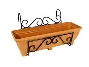 balcony fence holder scrolled back planter holder gift