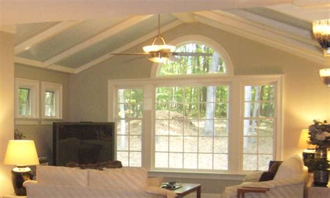 blue beadboard ceiling blue beadboard ceiling family room other by