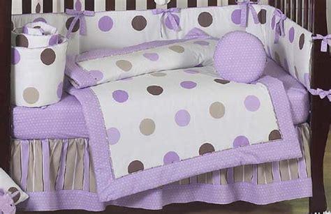 purple nursery bedding sets modern purple and brown polka dot 9pc baby crib bedding set room collection ebay