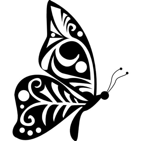 side view butterfly tattoo designs tribal wings design butterfly side view icons free