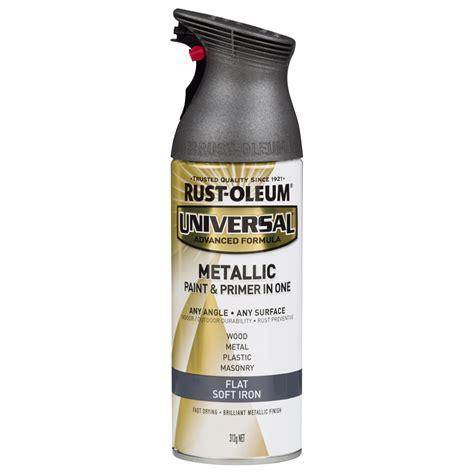 rust oleum 312g soft iron universal flat metallic paint bunnings warehouse