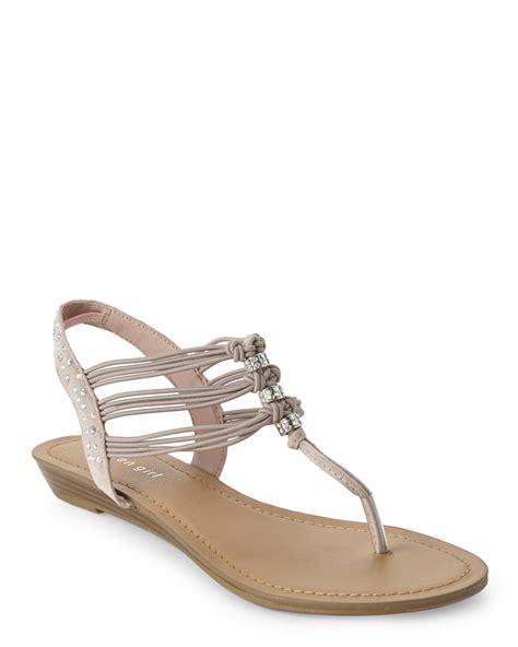 blush sandals lyst madden blush thrill strappy sandals in pink