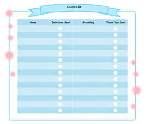 Birthday party guest list free birthday party guest list templates