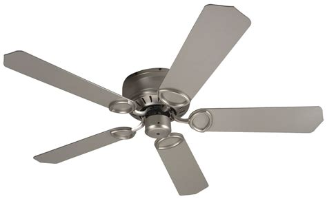 universal ceiling fan blades craftmade puh52bn brushed nickel 44 quot or 52 quot 5 blade flush