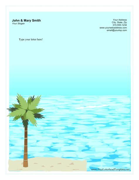 tropical personal letterhead