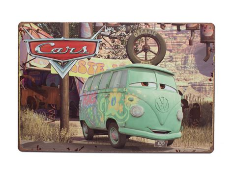 vintage blechschild deko vw bus bulli retro comic pwshopde
