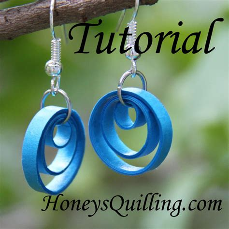 How To Make Earrings From Paper - how to make a multi circle earring with paper