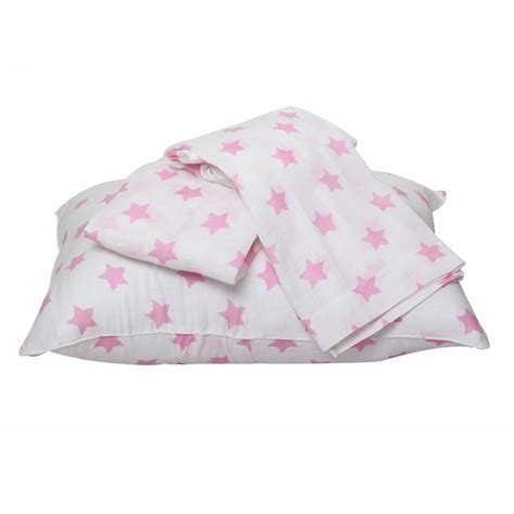 bacati bedding bacati star pink ikat muslin 4pc toddler bedding set