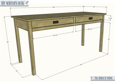 simple wood writing desk diy writer s desk