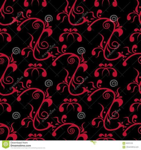 flowers seamless pattern element vector background seamless pattern with flower element red and black