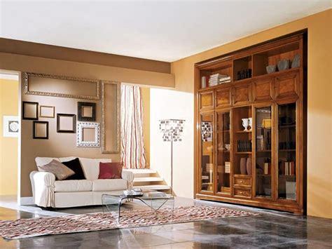 mobili per soggiorno in legno mobile in legno per soggiorno con ante in vetro idfdesign