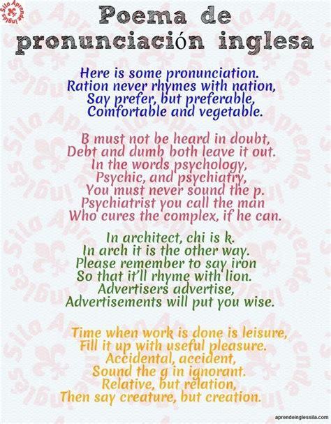 poemas sencillos poemas sencillos en ingls aprende ingl 233 s sila on