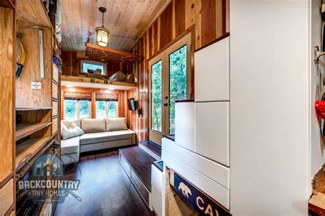 tiny house living room luke tina s basec tiny house tiny house design