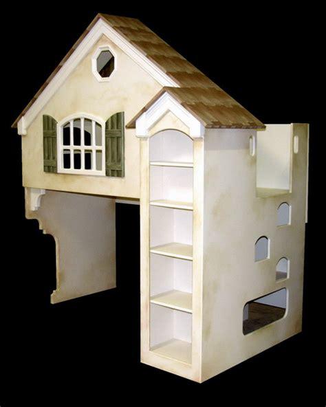 dollhouse loft bed twin  full