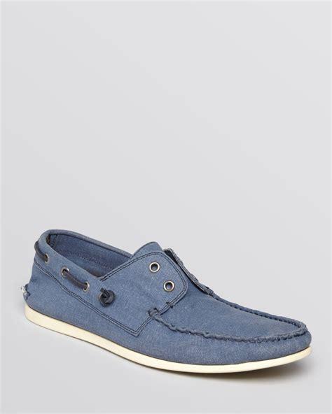 varvatos shoes varvatos usa schooner linen boat shoe in blue