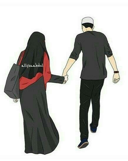 wallpaper gambar couple 59 best hijab animasi images on pinterest muslim couples