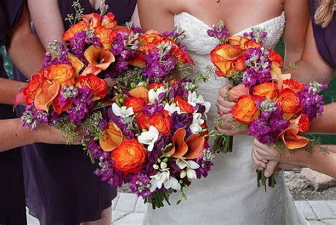 Purple And Orange Wedding Theme Weddings By Lilly Purple And Orange Centerpieces For Weddings