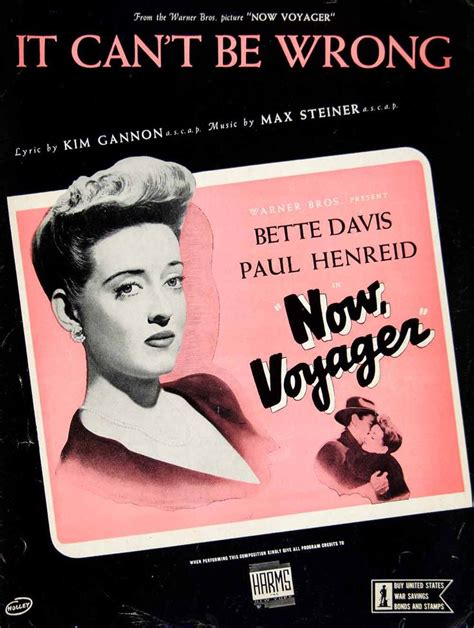 theme music now voyager 1942 sheet music it can t be wrong now voyager bette davis
