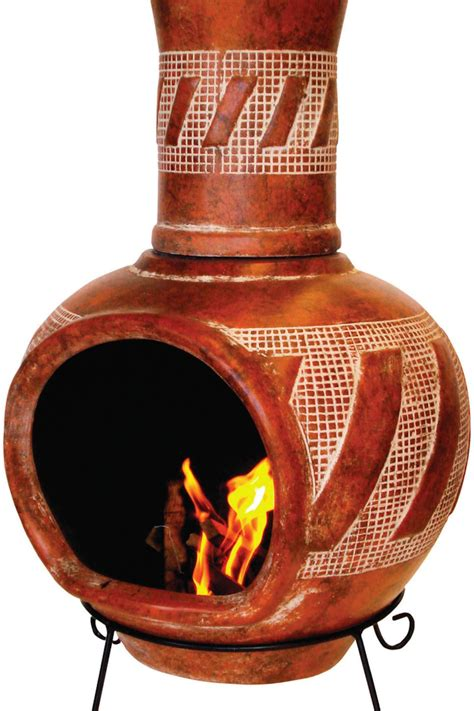 clay chiminea home depot 14 chimineas to warm up your outdoors hgtv