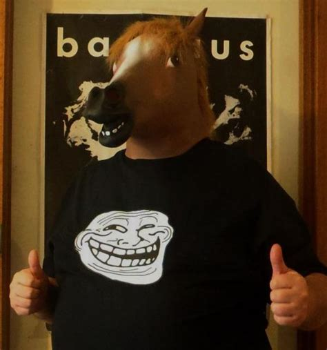 Meme Horse Head - horsehead troll horse head mask know your meme