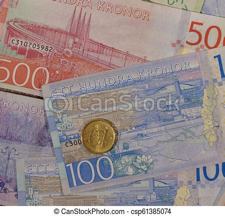 currency sek swedish krona notes and coins sweden swedish krona