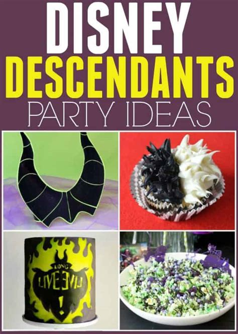 disney descendants party ideas food crafts and family disney descendants party ideas