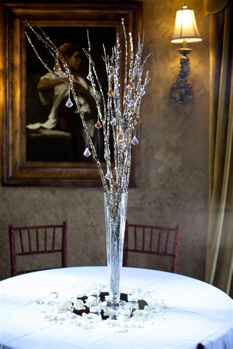 glitter branch centerpieces glitter branches from
