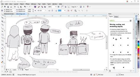format corel draw adalah tutorial cara membuat komik dengan coreldraw photoshop