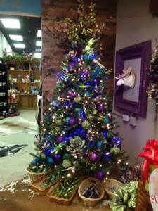 purple and blue christmas tree at one posh place in