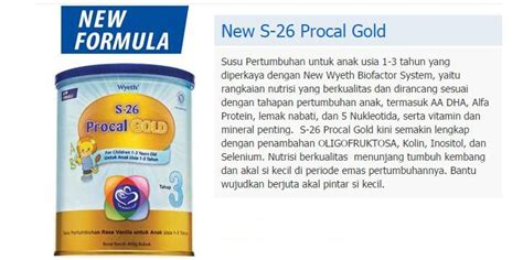 Procal Gold 900 Gr s26 procal gold 900gr milk from wyeth usia 1 3 tahun