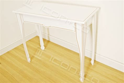 white ornate console table icon co retail display product display table manufacturer
