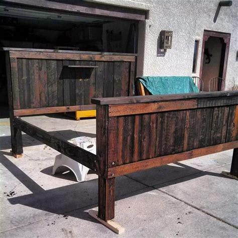 how to make a pallet bed frame 17 best images about bed bath on pinterest western furniture western bedroom