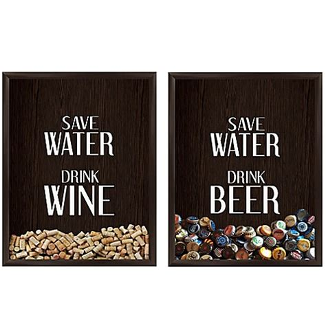 Do You Drink Boxed Or Cap Wine by Save Water Drink Graphic Shadow Box Bed Bath Beyond