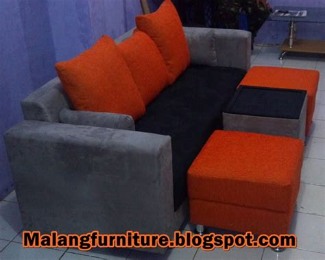 Sofa Tunggal Minimalis malang furniture sofa minimalis tunggal kain bebas 6 bantal meja 2 puff