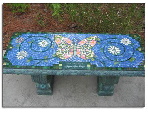 mosaic benches mosaic garden art ideas 40 inch mosaic memorial garden