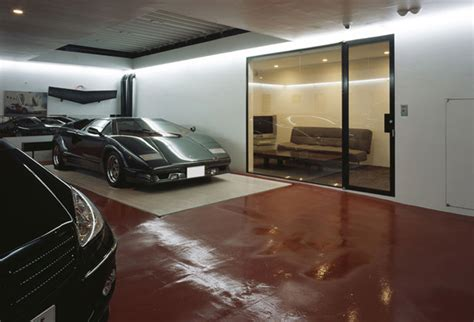car in living room house with 9 cars garage and lamborghini in the living