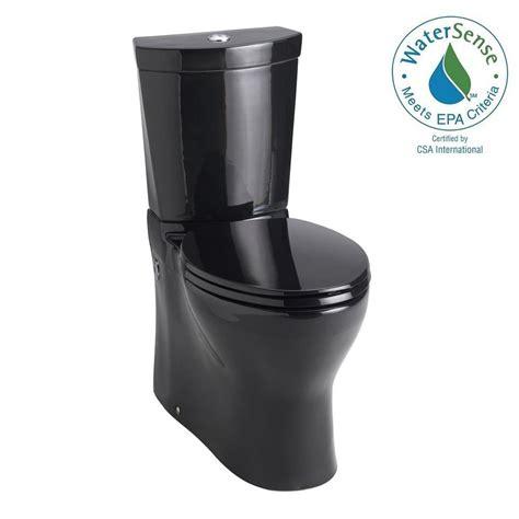 schwarze toilette kohler persuade 2 0 8 or 1 6 gpf dual flush