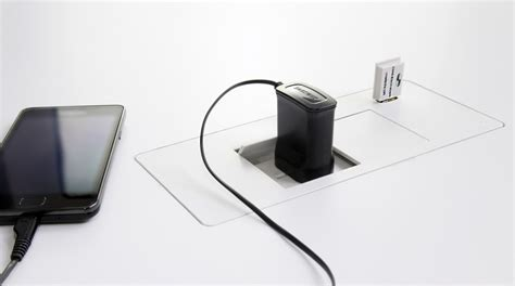 Usb Desk Accessories Flip In Desk Box 2 Gpo 2 Usb Office Accessories