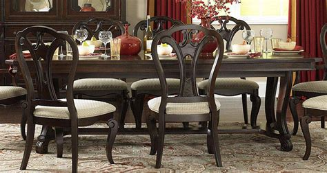 hillsdale grandover 7 dining set with large extension table cherry 4904dtbl7