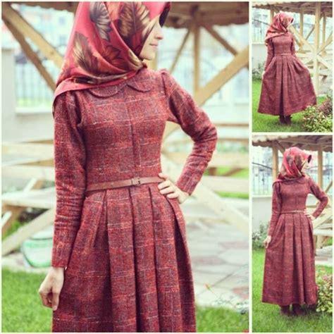 Dress Wanita Maxi Dress Muslim Arsita claretred dress maxi turkish muslim islamic fashion things to wear