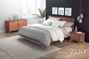Bedding Sets Sale Perth Perth Chestnut Platform Bedroom Set 100583 Zuo Modern