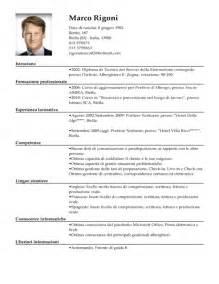 Curriculum Vitae Italiano by Modello Curriculum Vitae Portiere Di Notte Esempio Cv