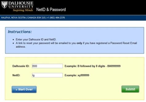 resetting netid changing your netid password if you do not know your