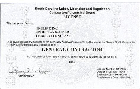 License & Insurance   Truline Roofing