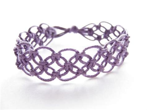 Macrame Pdf - lacy macrame bracelet pattern tutorial pdf purple step by