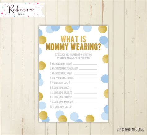 What Is A Baby Shower by Guessing What Is Wearing Baby Blue Baby Shower
