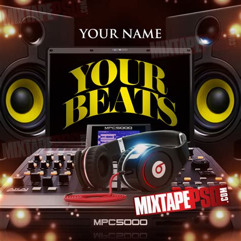free mixtape templates mixtape cover template your beats mixtapepsd