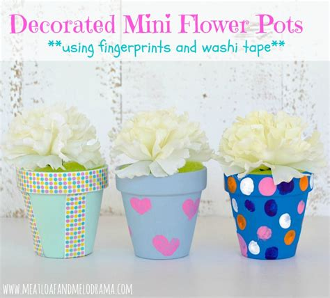 Homemade Flower Pots Ideas meatloaf and melodrama easy diy mother s day gift ideas