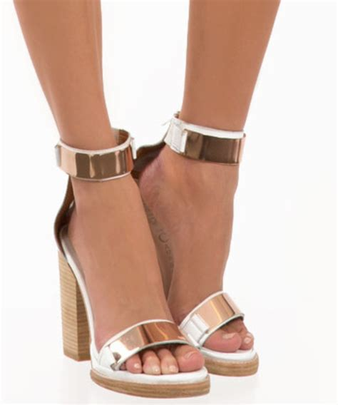 gold and white high heels tilda platform white leather in shoes at gal